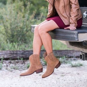 Tecovas Lucy Western Suede Booties